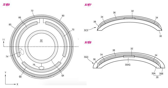 samsung smart contact lenses patent