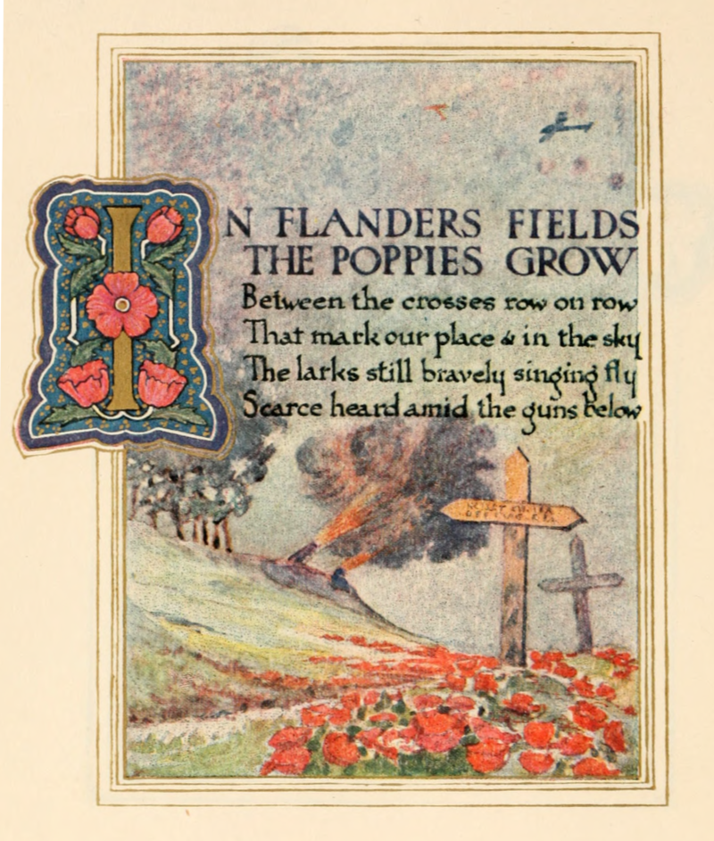 800px In Flanders Fields 1921 page 1