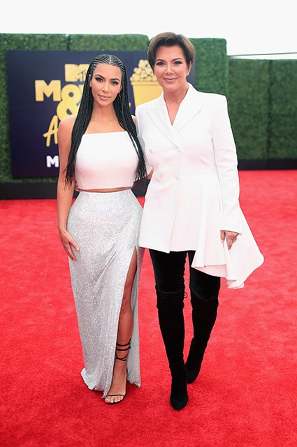 kim and kris jenner
